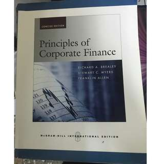 Principles of Corporate Finance(公司理財)