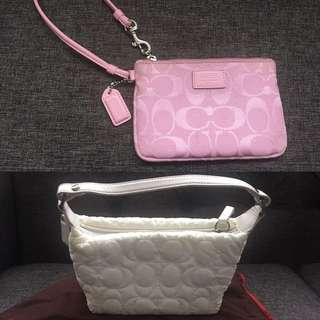 Authentic Coach Wristlet & Bag - BOTH for $20