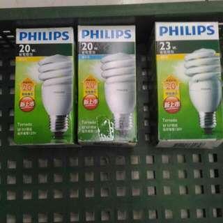 飛利浦燈泡20w及23w