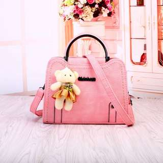 Tas Impor Batam Murah 21A850SN Vintage Pink
