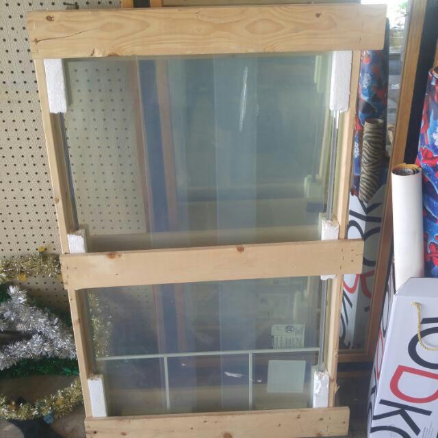 2 Pieces Double Plain Window