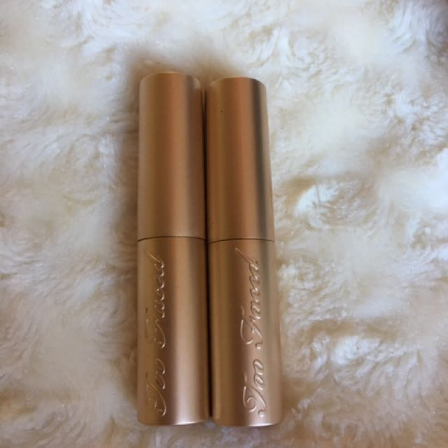 2 Too Faced Holiday La Creme Lipsticks