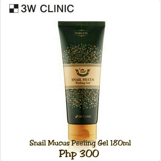 3W Clinic Snail Mucus Peeling Gel 180ml
