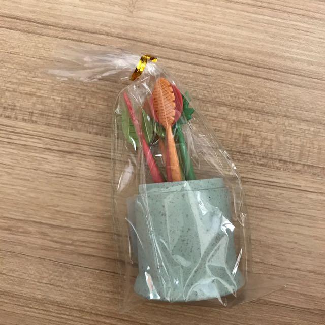 環保水果叉(植物塑膠可分解)