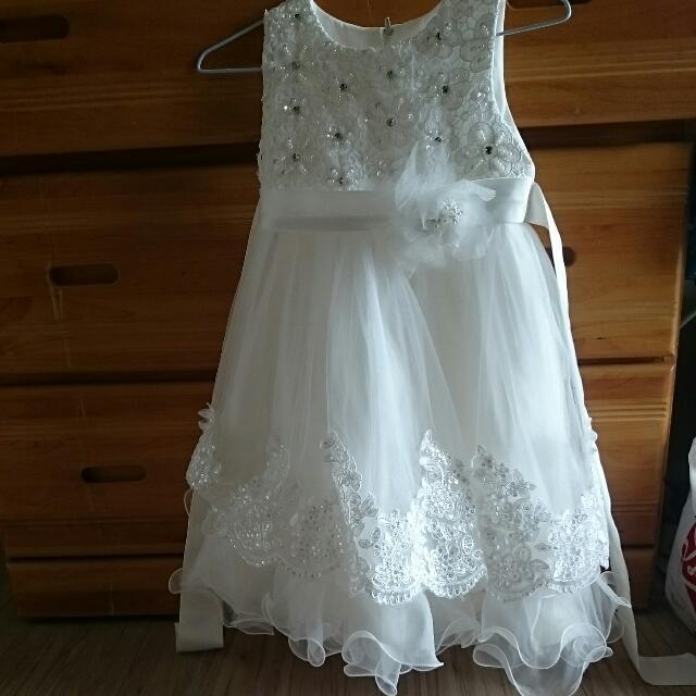 花童禮服,洋裝。