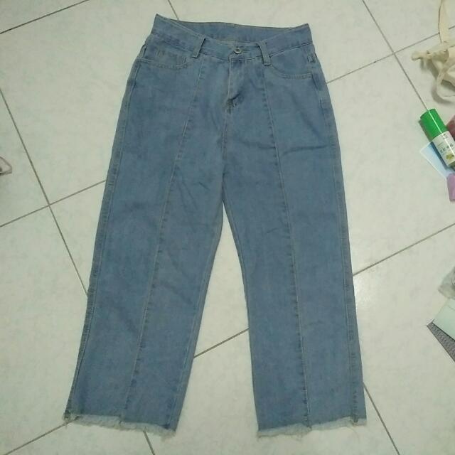 寬褲,刷鬚,牛仔褲