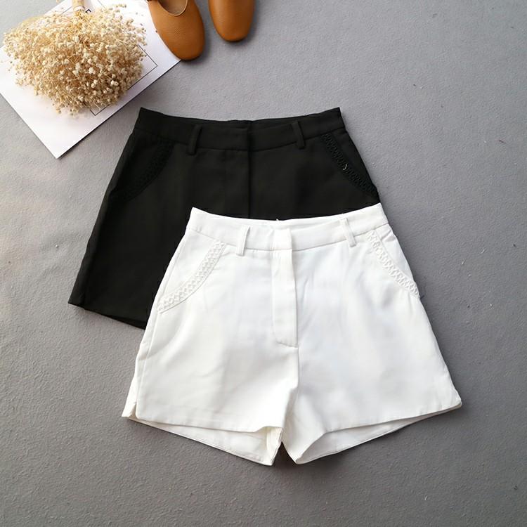 寬鬆刺繡高質感短褲