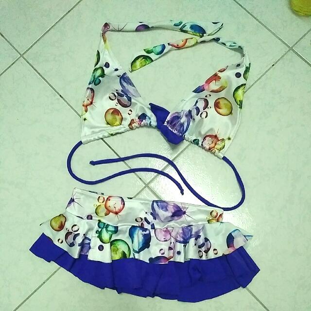 比基尼,絲綢質感,褲裙。#我有泳裝要賣
