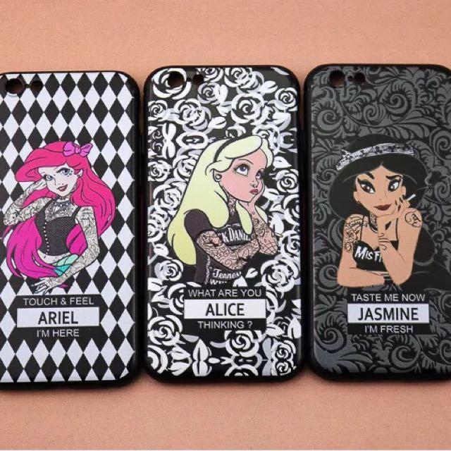 公主惡搞版 iPhone 7/7plus 手機殼 6plus/6s plus 磨砂殼 卡通 閨蜜殼 Elsa