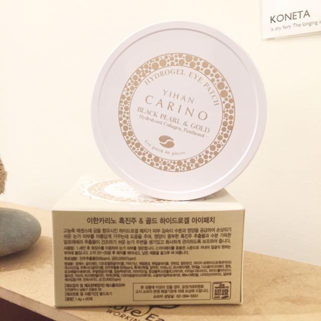 降價Σ(゚ω゚ノ)ノ🇰🇷 韓國帶回 Yihan Carino 麗仁堂 黑珍珠黃金凝膠眼膜 韓國製 九成新 (原60片,現有56片)