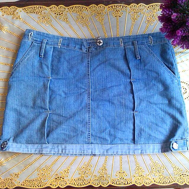 Acid-wash Skirt #repriced
