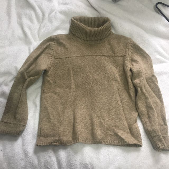 Amazing Camel Turtle Neck Knit Jumper