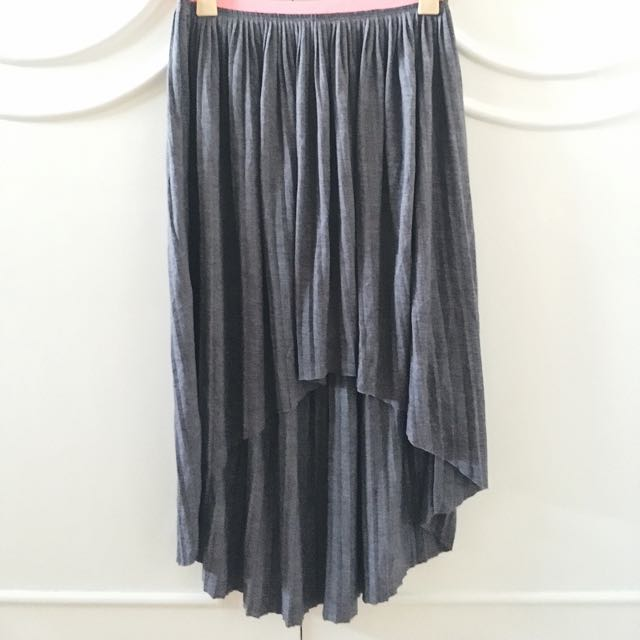 American Eagle Outfitters High Low Grey Skirt