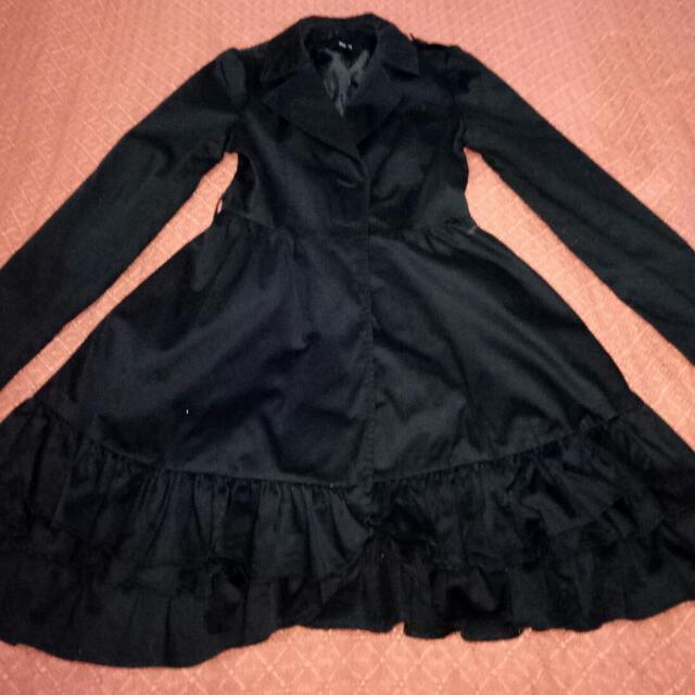 ASOS Black Ruffle Trench Coat 10