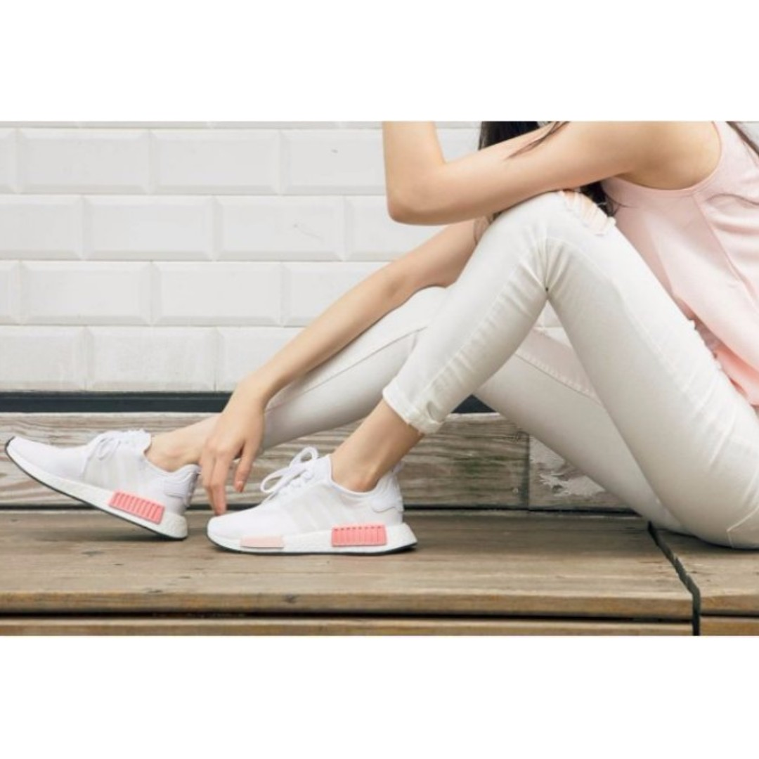 588599e08  Authentic  Adidas NMD R1 White Icy Pink BY9952 Size UK 7 US 8.5 (Accept  Trade for UK 6)