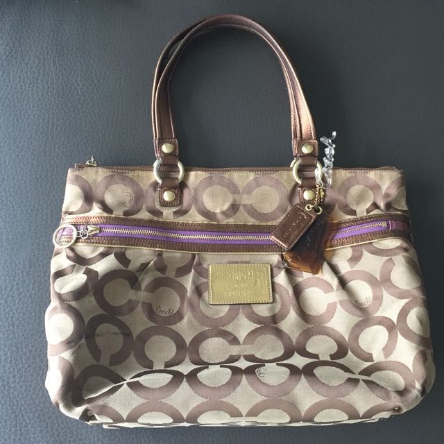 Authentic Coach Poppy Op Art Glam Tote
