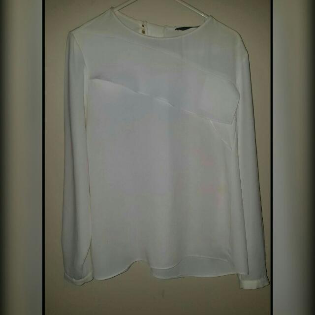 basic white top from zara