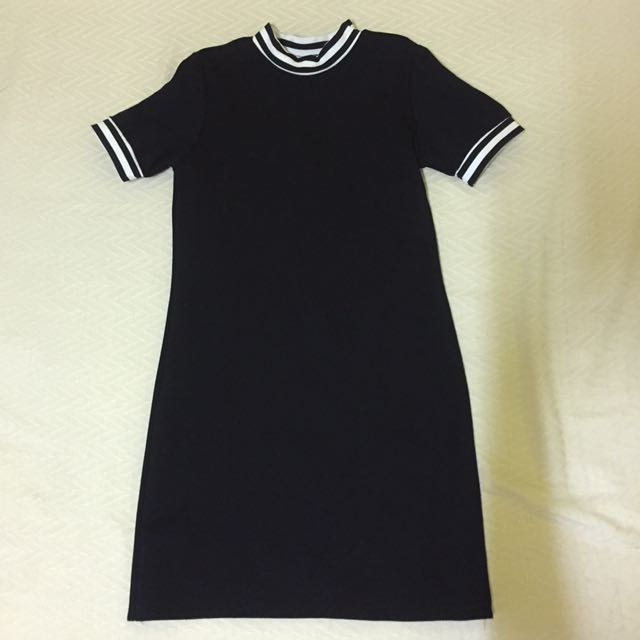 Black Semi-Turtleneck Dress
