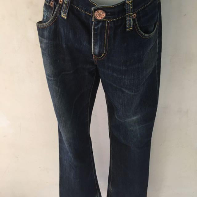 BLUE WAY 鬼洗箱子🇯🇵日本藍直筒修身牛仔褲