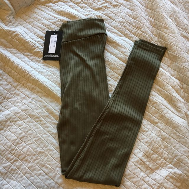 BNWT PrettyLittleThing Khaki Leggings