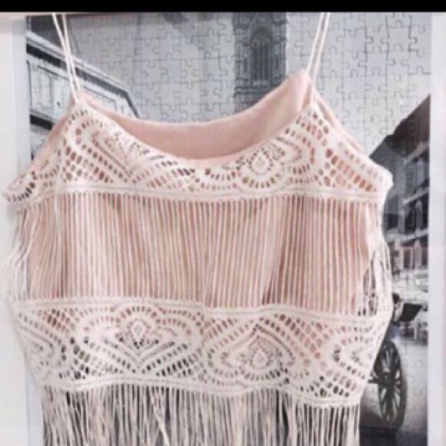 Bohemian Crochet Fringe Top