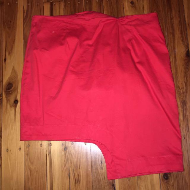 Bright Red Bardot Skirt