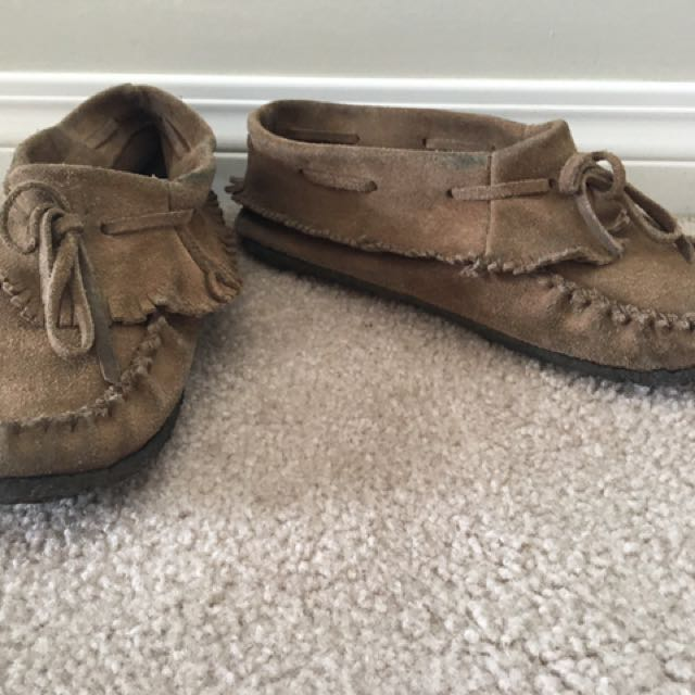 Brown Leather SoftMoc Moccasins