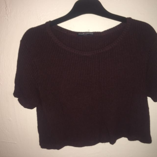 Burgundy Brandy Melville Crop Top