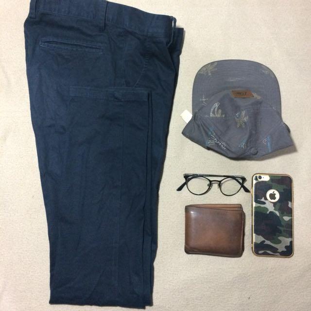 Celana Panjang Chino Blue Navy