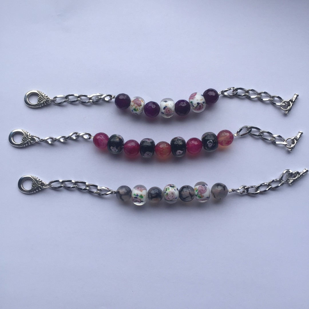 Chain and Beads Bracelet