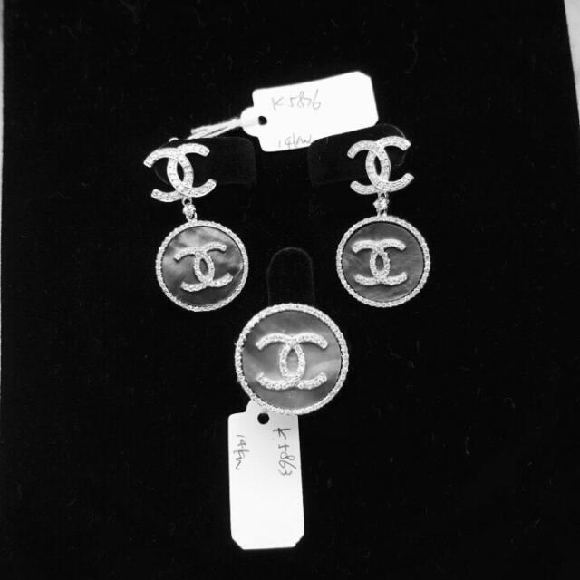 Chanel Onyx Set Diamond Hongkong Setting