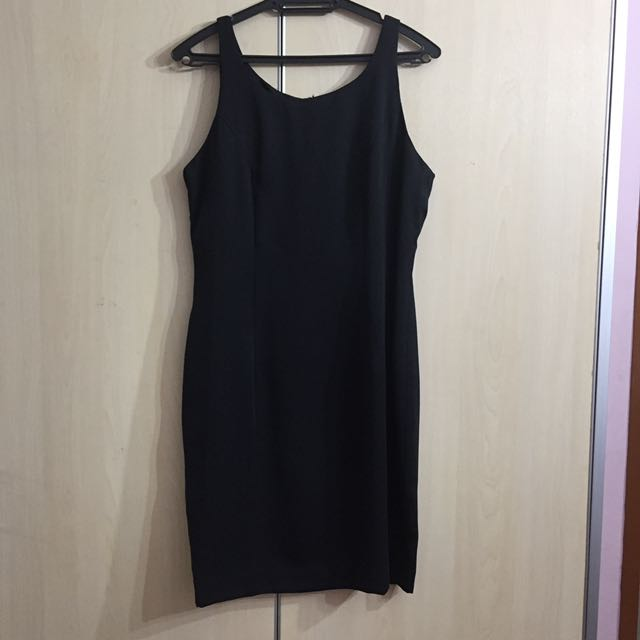[charity] Vintage Class Black Dress S/M
