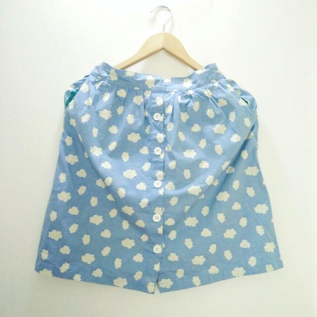 Cloud Pattern Skirt