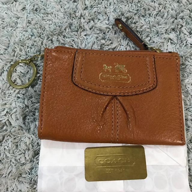 Coach Leather Keyholder
