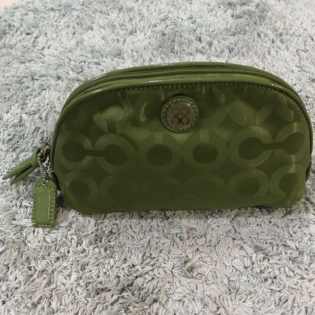 Coach Signature Cosmetic Pouch