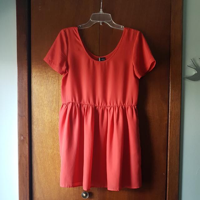 Coral Skater Dress (S)