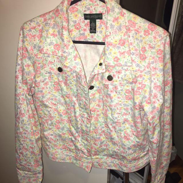 Cute Floral Denim Jacket