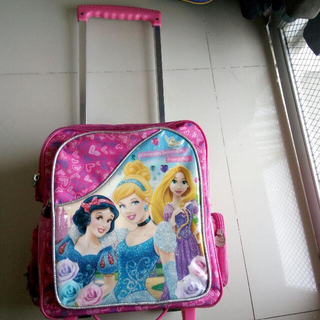 Disney Princess School Bag Trolley