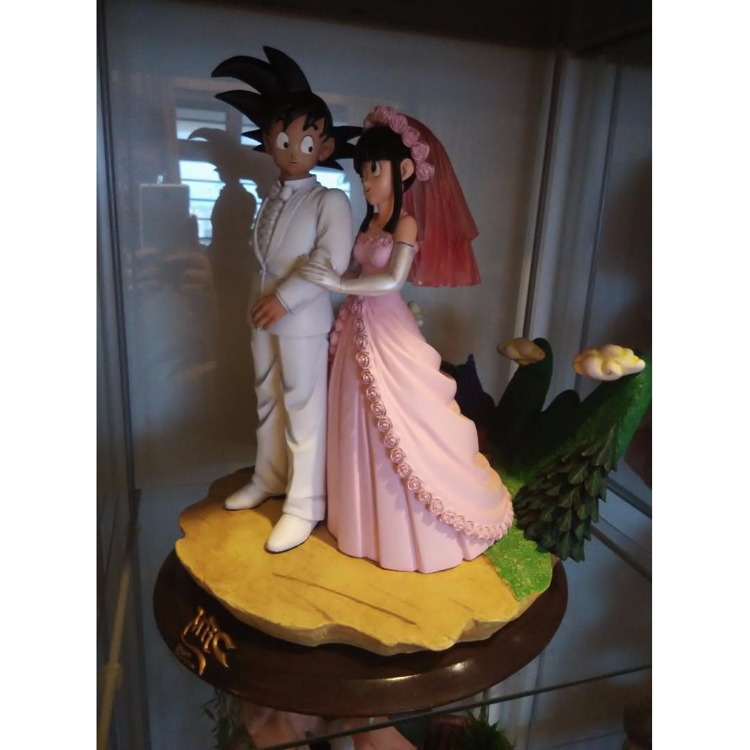dragon ball resin statue - Goku Chichi Wedding 1st version ...