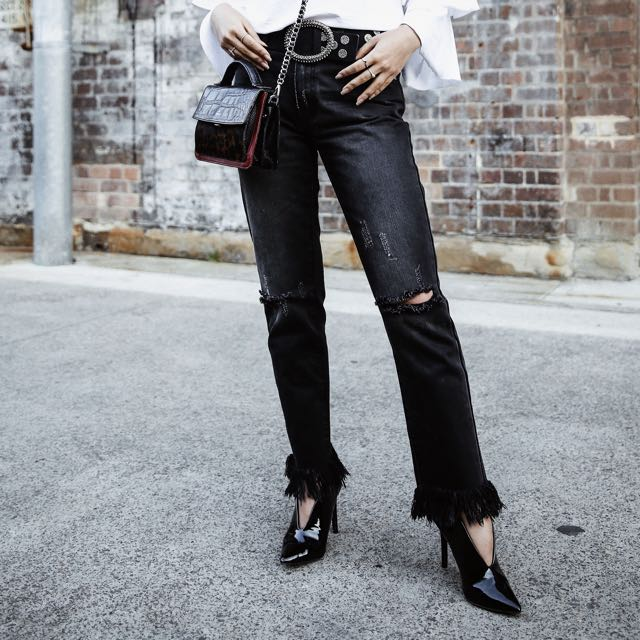Edgy Black Denim Jeans