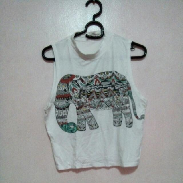 Elephant Crop Top