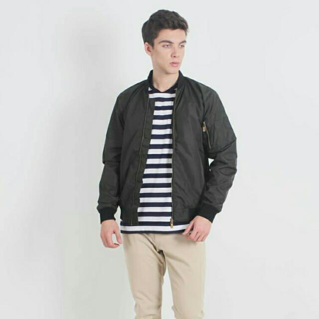 ERIGO Black Bomber Jacket