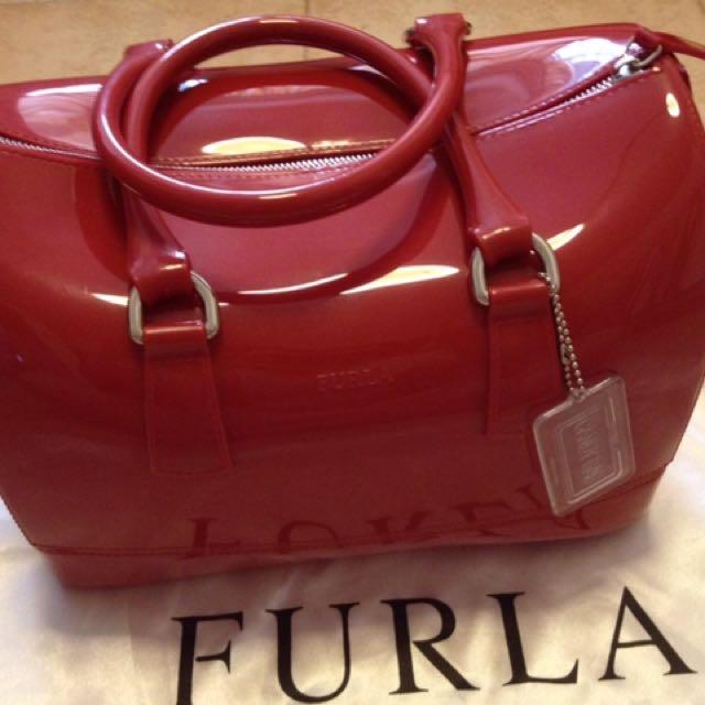 Furla Candy Bag (Speedy) Dark Red