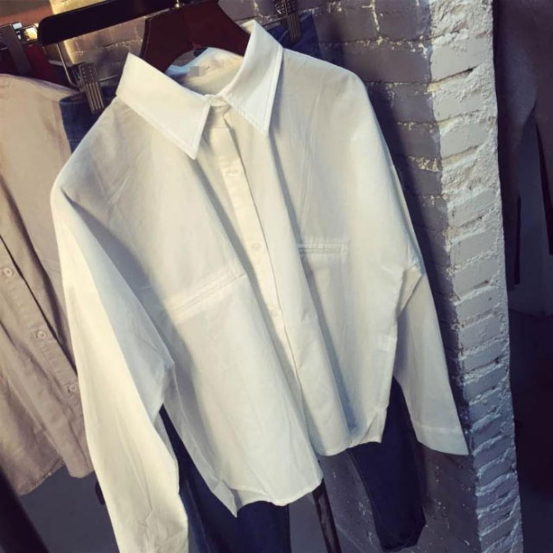 韓版短版白襯衫gmarket