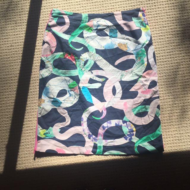 Gorman 'Miranda Skoczek' Snake Print Skirt Size 14