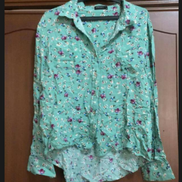 Green Floral Polo For Women