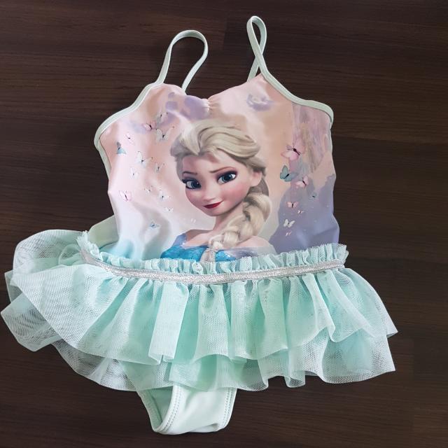 H And M Frozen Tutu Swimming Costumeswimsuit Babies Kids Girls