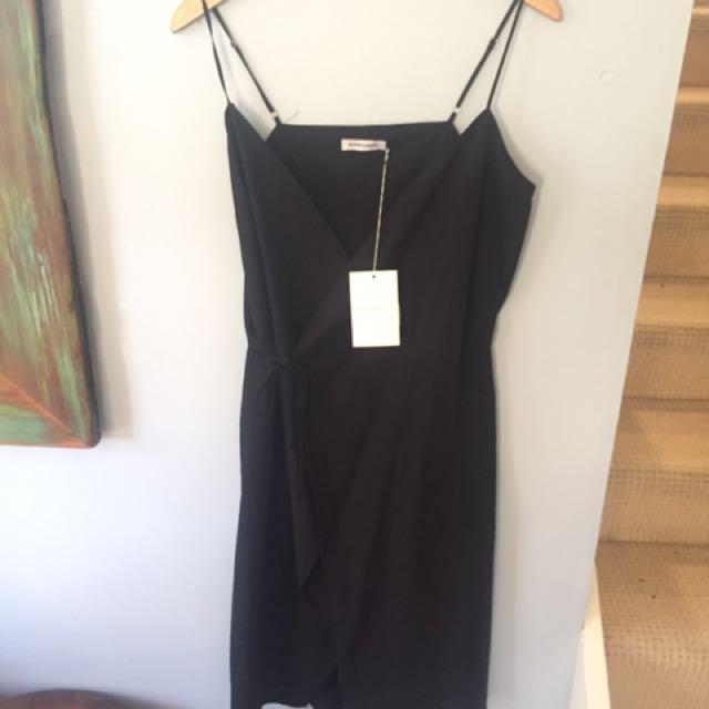 Hansen & Gretel Black Wrap Dress Size 2