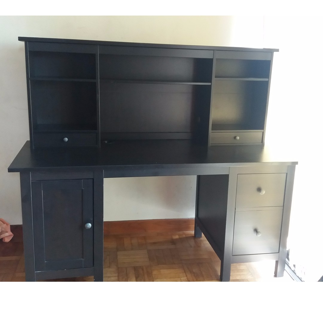 Hemnes Desk With Add On Unit Ikea Furniture Tables Chairs Carou