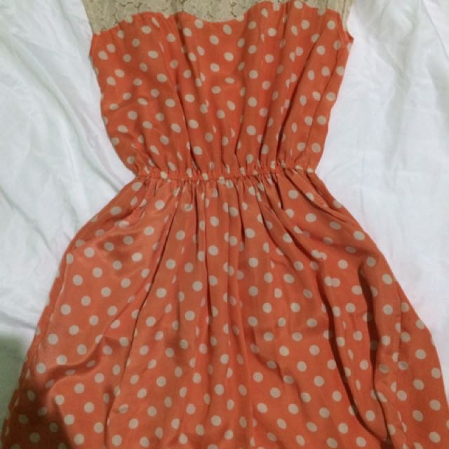 Hip Culture Polka Dots Dress